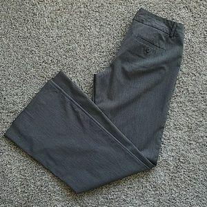 Grey Pinstripe Dress Pants